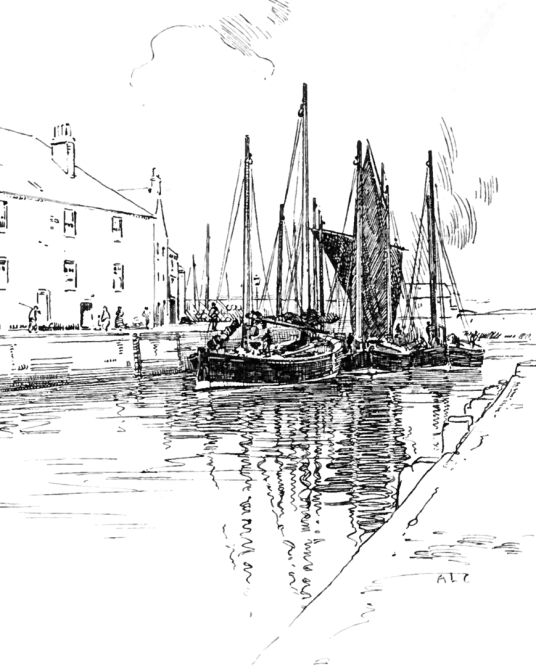 Ships docked at Eyemouth, by Gunsgreen House, an elegant and compact Adam mansion associated with smuggling, located by the harbour in the fishing town of Eyemouth in Berwickshire in southeast Scotland and now housing a museum.