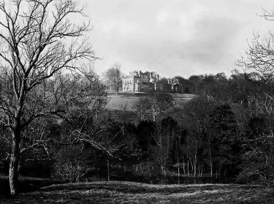 Oxenfoord Castle is a magnificent mansion incorporating an old castle, long held by the Macgills (Makgills) and then the Dalrymples, set in fine grounds some miles south of Dalkeith in central Scotland.