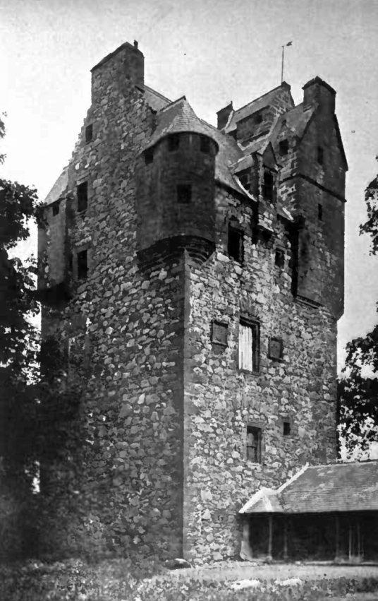 Amisfield Tower, a large, impressive, well-preserved and elaborate old tower house, by Amisfield House, a later mansion, long a property of the Charteris family, and located in a fine spot near Dumfries in southern Scotland.