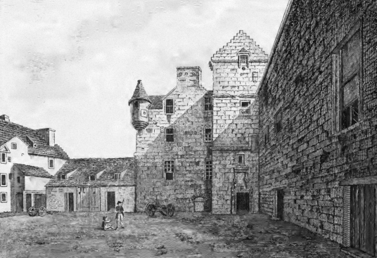 Gowrie House was a magnificent townhouse in Perth, built by the Countess of Huntly, but going to the Ruthvens, scene of the infamous Gowrie Conspiracy, but demolished in the 19th century.