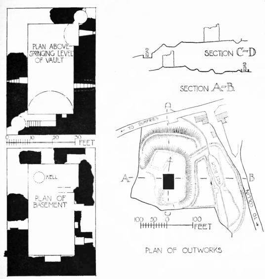 Torthorwold Castle: plan