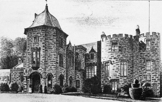 Fingask Castle, a fine castle and mansion in scenic gardens, near Perth in Perthsire