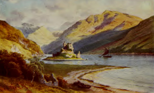 Eilean Donan Castle, a romantic castle in a beautiful spot, much photographed and long a property of the Mackenzies, near Dornie on the road to Skye in the Highlands of Scotland.