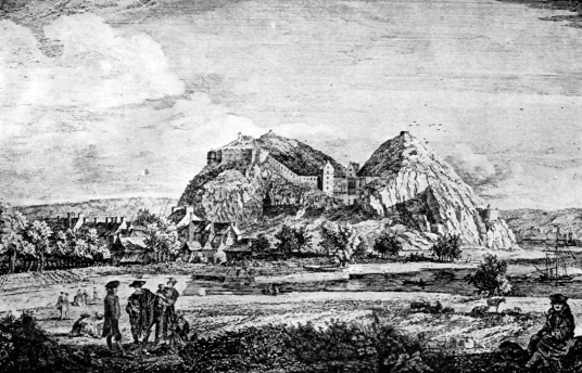Dumbarton Castle was an important medieval stronghold, but was remodelled for artillery in the 18th and 19th century, although it remains a prominent landmark on Dumbarton Rock, by the River Clyde.