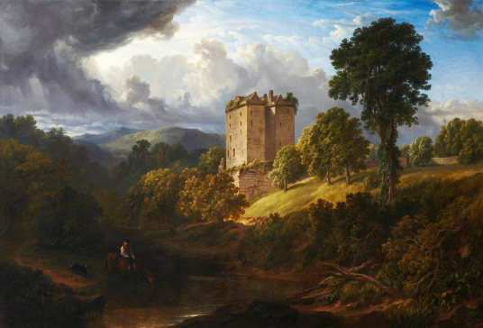 Borthwick Castle by Robert Gibb (1801–1837), photo credit: Royal Scottish Academy of Art & Architecture, CC BY-NC-ND, source: artuk.org