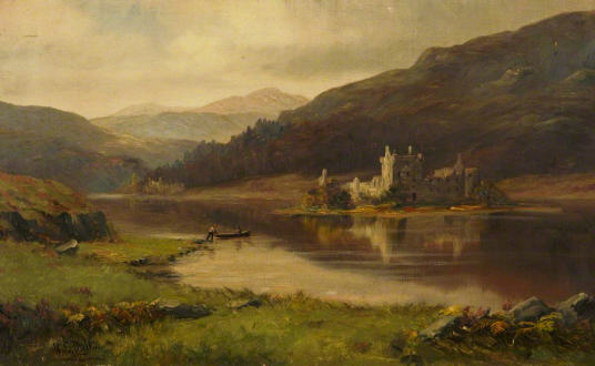Kilchurn Castle by  William Scott Myles (1850–1911), Photo credit: ANGUSalive, CC BY-NC, source: artuk.org