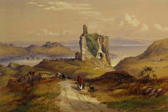 Tarbert Castle, Loch Fyne by Thomas Miles Richardson I (1784–1848), Photo credit: University of Dundee Fine Art Collections, CC BY-NC-ND, source: artuk.org