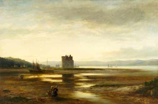 Lochranza Castle by William Beattie Brown (1831–1909), Photo credit: Glasgow Museums, CC BY-NC-ND, source: artuk.org