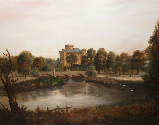 Eglinton Castle by  John B. Fleming (1792–1845), Photo credit: North Ayrshire Council, CC BY, source: artuk.org