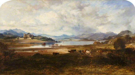 Dunstaffnage Castle by Horatio McCulloch (1805–1867), Photo credit: Glasgow Museums, CC BY-NC-ND, source: artuk.org