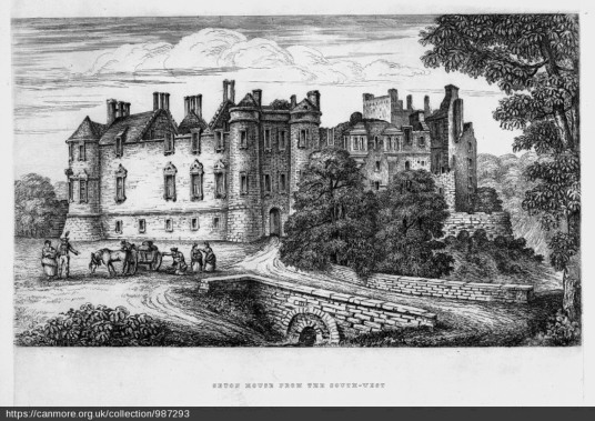 Seton Palace  by ?Sir John Clerk of Eldin (1727-1812), © RCAHMS, http://canmore.org.uk/collection/987293