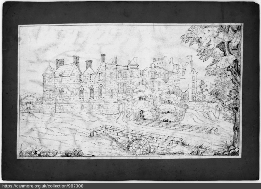 Seton Palace from S, © RCAHMS, http://canmore.org.uk/collection/987308