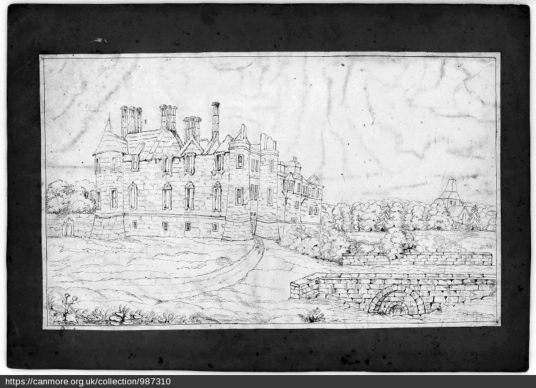 Seton Palace from E, © RCAHMS, http://canmore.org.uk/collection/987310