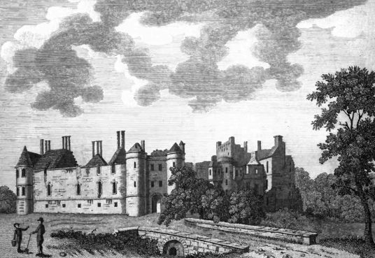 Ruin of Seton Palace, predecessor of Seton Castle, a large and impressive Adam mansion near the atmospheric Seton Collegiate Church built by the Seton family, near Tranent and Cockenzie and Port Seton in East Lothian.