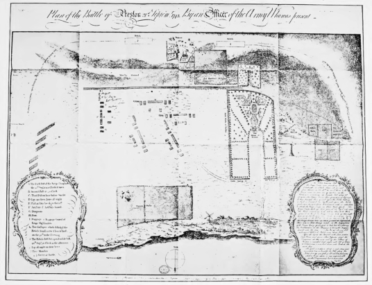Maps of Battle of Prestonpans, Preston Tower, a tall, impressive and grim old tower house, long held by the Hamiltons and in fine gardens in Prestonpans in East Lothian in eastern Scotland.