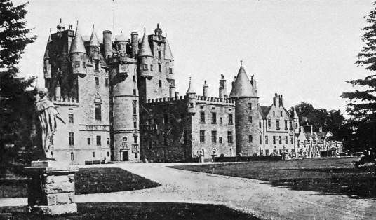 Glamis Castle, one of the most impressive, romantic and reputedly haunted castles in Scotland, home to the Bowes Lyon Earls of Strathmore and Kinghorne, and near Forfar in Angus in northeast Scotland.