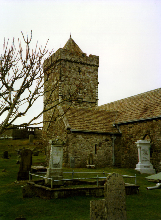 Rodel Church, Dunvegan Castle, a large castle and mansion, stands on a pretty spot to the north of the island of Skye in the Hebrides of Scotland and has long been the seat of the MacLeods of Dunvegan.