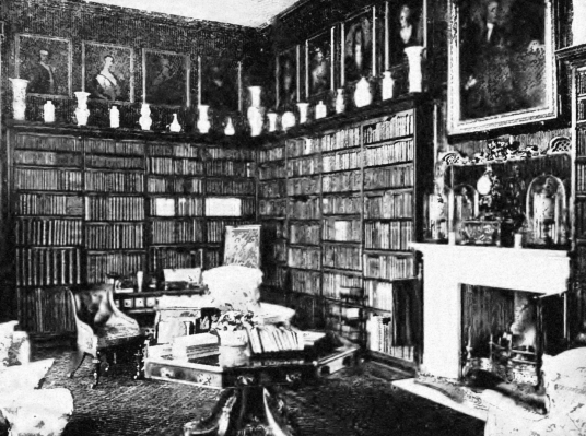 Library, Dalkeith Palace, the magnificent mansion, including an old castle, of the Douglases and then the Scott Dukes of Buccleuch, set in beautiful landscaped policies and now a country park with lovely walks, cafe, restaurant and shop, near the town of