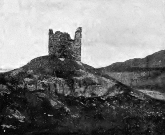 Caisteal Bharraich or Castle Varrich is a crumbling ruinous old castle in a wild and beautiful spot, near Tongue in Sutherland on the far north coast of Scotland.
