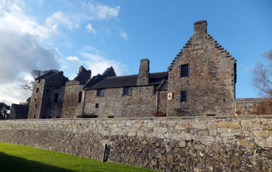Priory where Jamie is healed in Outlander / Aberdour Castle