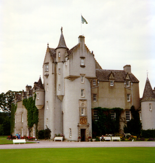 Ballindalloch Castle, an impressive stronghold and homely mansion in lovely wooded grounds, long a property of the Macpherson Grants, and near Charlestown of Aberlour in Moray in northern Scotland.