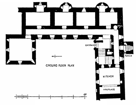 Plan, Bishops's and Earl's Palace, a fabulous complex of two ruinous palaces by St Magnus Cathedral in Kirkwall, the capital of Orkney.