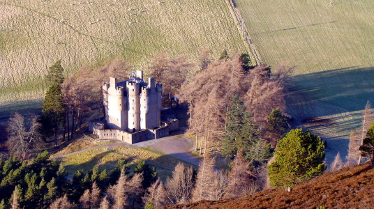 Braemar Castle is an impressive, embattled old tower house, built and owned by the Erskine Earls of Mar and used as a government garrison after the Jacobite Risings, located in a scenic mountainous location near Braemar in Aberdeenshire in northern Scotla