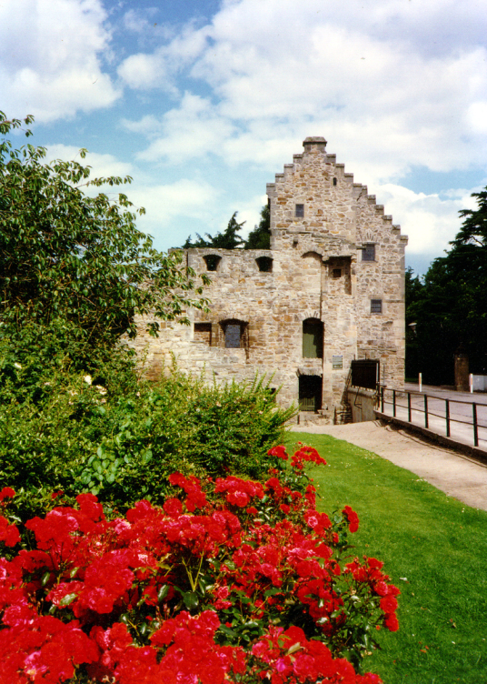 Bishop's House, near Elgin Cathedral, Spynie Palace, a castle despite its name, has one of the most impressive towers in Scotland, and was held by the Bishops of Moray who had their cathedral at Elgin in Moray in northeast Scotland.