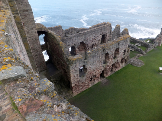 Hall block, Tantallon Castle, a spectacular ruinous castle of the Douglas Earls of Angus, located in a pretty cliff top location near the East Lothian seaside town of North Berwick.