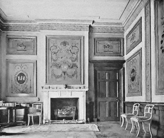 Drawing room, Newliston House is a fine Adam mansion, set in landscaped grounds near Kirkliston in West Lothian in central Scotland, and held by the Dundas family, the Dalrymples of Stair, and then the Hog family.