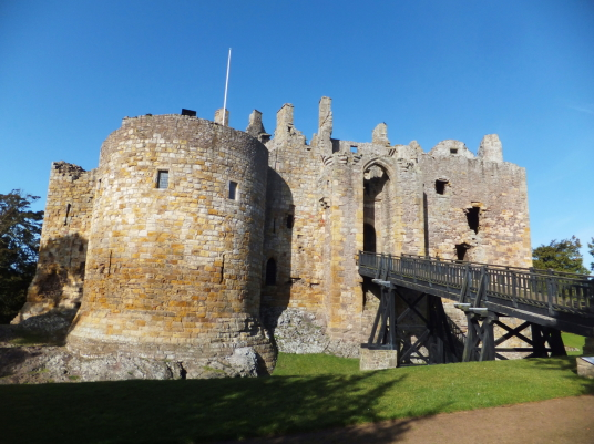 Dirleton Castle, a magnificent ruined medieval castle, near North Berwick in East Lothian