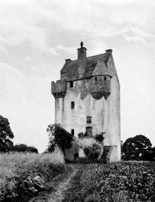 Coxton Tower is a fine, well-preserved tower house, long held by the Innes family, and near Elgin in Moray in north-east Scotland.