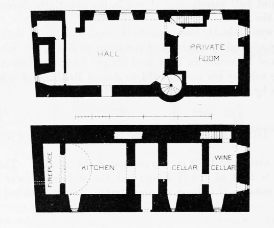Plans, Dunbeath Castle, a handsome whitewashed castle on a spectacular cliff top location, in Caithness in northeast Scotland