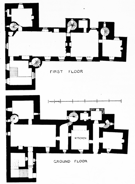 Plans, Kellie Castle is a large and an attractive old tower house, once held by the Oliphants and then the Erskine Earls of Kellie, set in a beautiful spot with a stunning gardens, near Elie in Fife in central Scotland.