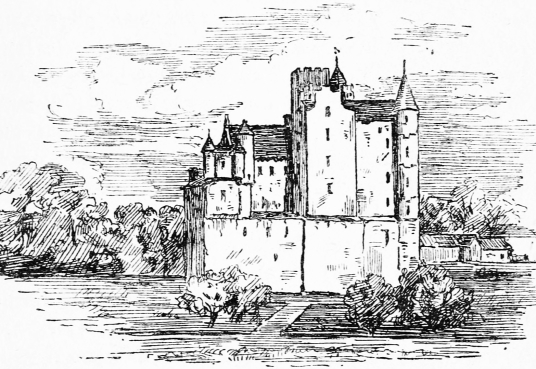 Old castle, Gordon Castle, the reduced but still impressive mansion of the Gordon Dukes of Gordon, formerly known as Bog of Gight, set in landscaped policies with a walled garden near Fochabers and Elgin in Moray in northeast Scotland.