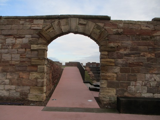 Enetrance, The Battery, Dunbar Castle is a picturesque, once strong but now very ruinous old stronghold, built on rocky crags by the mouth of the harbour, besieged by the English in 1333 and associated with Mary Queen of Scots, by the harbour in the East