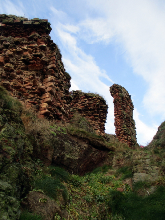 Dunbar Castle is a picturesque, once strong but now very ruinous old stronghold, built on rocky crags by the mouth of the harbour, besieged by the English in 1333 and associated with Mary Queen of Scots, by the harbour in the East Lothian burgh of Dunbar.