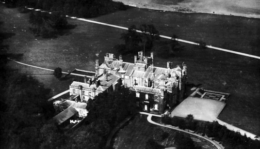 Dalmeny House, an impressive castellated mansion with a fine interior, long held by the Primrose Earls of Rosebery, and located in landscaped policies by the Firth of Forth near South Queensferry and Edinburgh in central Scotland.