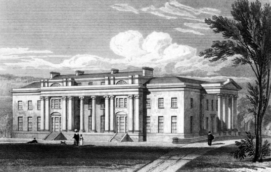 Balbirnie House, an imposing classical mansion, set in fine parkland near Glenrothes in Fife in central Scotland, and long a property of the Balfours before becoming a hotel.