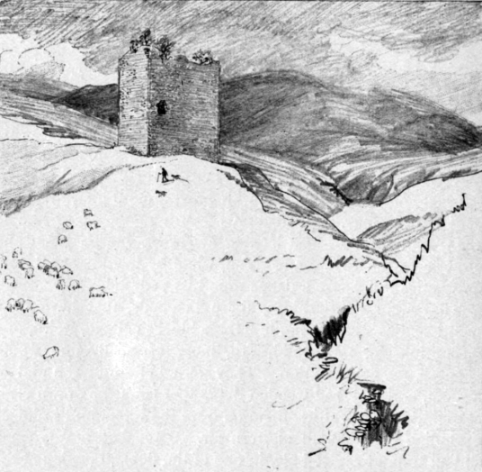 Dryhope Tower, a ruinous old tower house is a scenic now peaceful location, once held by the turbulent Scott family and near Cappercleuch and St Mary's Loch in the Borders of southern Scotland.