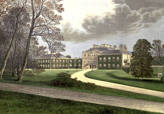 Haddo House is an impressive classical mansion with a fine interior in gardens and landscaped policies, long held by the Gordons and near Ellon in Aberdeenshire in northeast Scotland.