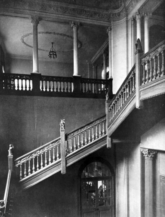 Stair, Kinfauns Castle, a large Gothic mansion in landscaped policies, one home to the Charteris, then the Hay and Carnegie families, by the River Tay near Perth in Perthshire in central Scotland.