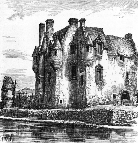 Newark Castle, a substantial and fascinating old tower house with many rooms to explore and some original internal features, long held by the turbulent Maxwells, and standing by the banks of the River Clyde near Port Glasgow in Renfrewshire in western Sco