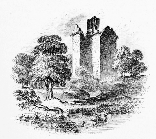 Niddry Castle, a large and impressive restored tower house of the Seton family and associated with Mary Queen of Scots, near Broxburn and Winchburgh in West Lothian in central Scotland.