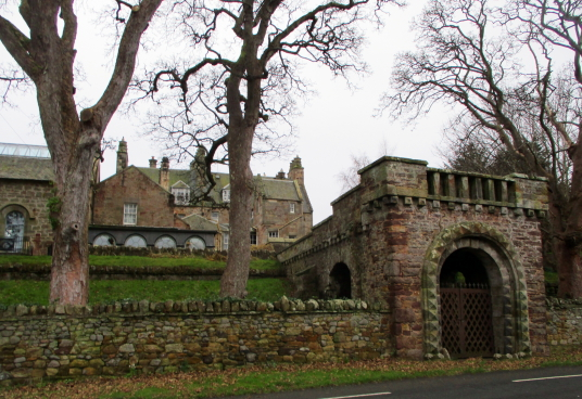 Luffness House, an attractive old stronghold and mansion, near the slight ruins of Luffness Priory, held by the Lindsays, Hepburns, and then the Hopes, in a lovely spot by the sea, near Aberlady in East Lothian in southeast Scotland.