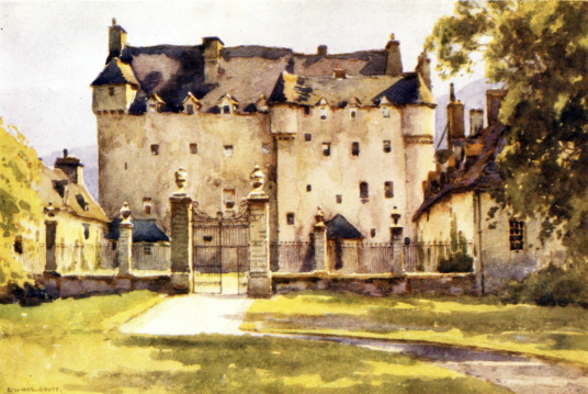 Traquair House, a fabulous homely old castle and house, long a property of the Stewarts and associated with Mary, Queen of Scots, in lovely grounds near Innerleithen in the Borders of Scotland.