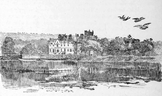 Cameron House, a fine mansion on the shore of Loch Lomond near Balloch, was held by the Colquhouns and Smolletts, and is now an exclusive hotel.