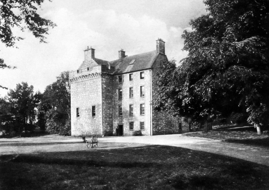 Culcreuch Castle, old castle of the Galbraiths, the Napiers, Setons and others,, in a pretty parkland location, near Fintry in Stirlingshire in central Scotland.
