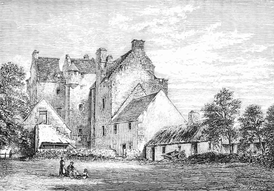 Dalcross Cast;e, a fine impressive castle, held by the Frasers and the Mackintoshes, near Inverness in the Highlands of Scotland.
