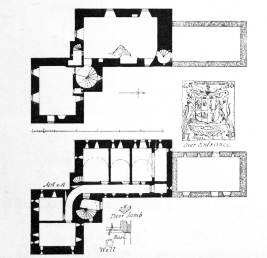 Plans, Dalcross Castle, a fine impressive castle, held by the Frasers and the Mackintoshes, near Inverness in the Highlands of Scotland.